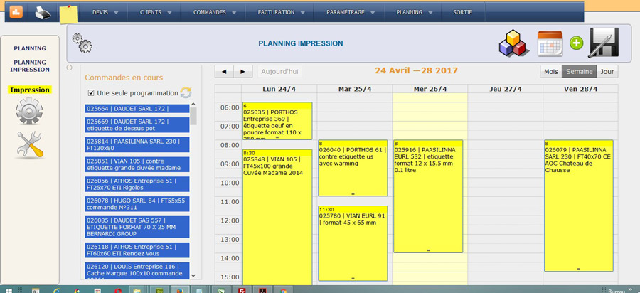 planning de production style google agenda