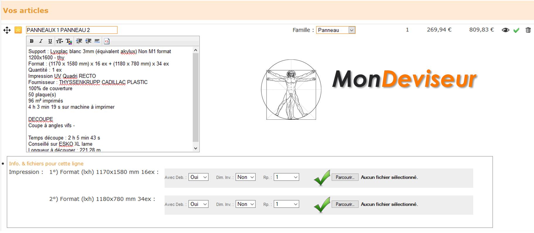 Echange de données entre switch et mondeviseur pour la gestion des flux numériques