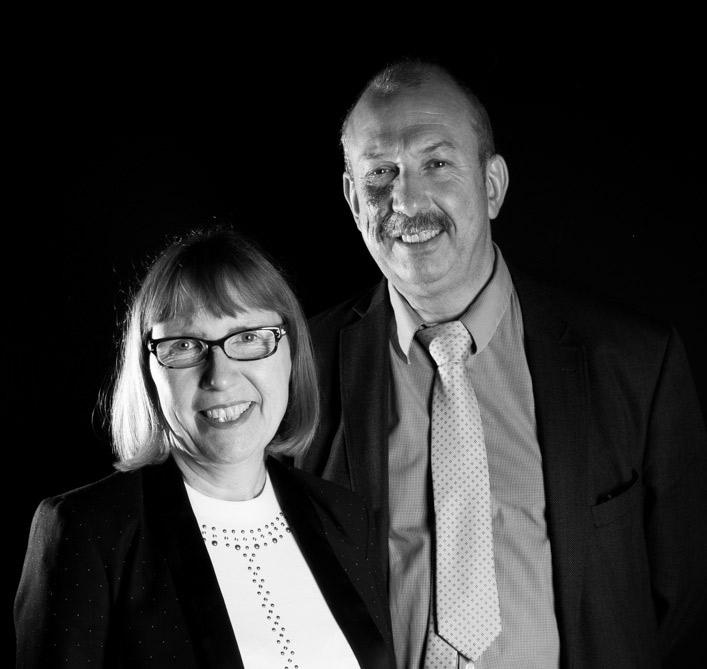 Bernard et Sylvie Blas, gérants de l'imprimerie labeur Blas Desmoutiez à Lille