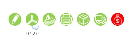 GPAO - MonDeviseur : drapeaux de suivi de commande intéractifs