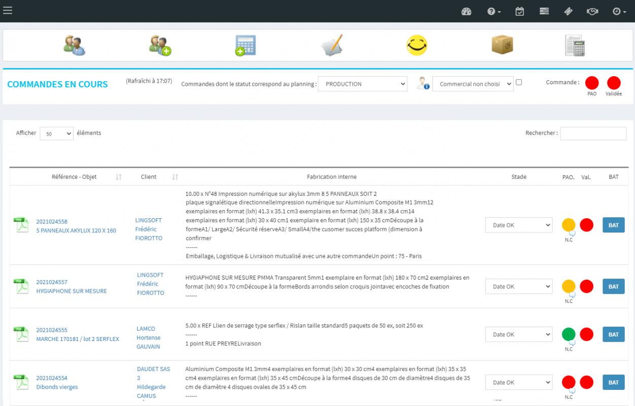 GPAO - Mondeviseur : gestion des commande PAO